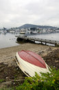 Dinghy, Derwent River, Hobart, Tasmania Royalty Free Stock Image