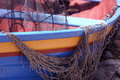Dinghy With Fishing Nets Royalty Free Stock Photography