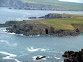 Dingle cave view of the on coast near smerwick harbour Stock Photo