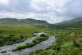 Dingle river with cloudy sky Stock Photo