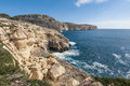 The dingli cliffs in malta views of mediterranean sea from rdum ta had Royalty Free Stock Image
