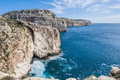 The dingli cliffs in malta views of mediterranean sea from rdum ta had Stock Image