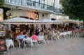 Dining Al Fresco, Restouradores, Lisbon, Tom Wurl Royalty Free Stock Photo