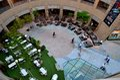 Dining alfresco courtyard the Esplanade Singapore Royalty Free Stock Photo