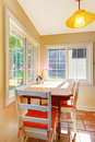 Dining room breakfast area in a small kitchen. Stock Photos