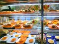 Dining Room Buffet aboard the luxury abstract cruise ship Royalty Free Stock Photo