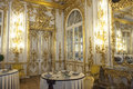 Dining room catherine palace st petersburg well layed table inside the pushkin near russia Royalty Free Stock Image