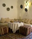 Dining room in morocco Royalty Free Stock Photo