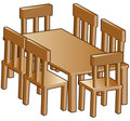 Dining room table Royalty Free Stock Photos