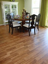 Dining Room with Wood Floors Stock Photos