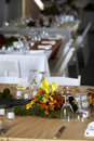 Dining table set for a wedding or corporate event Royalty Free Stock Image