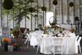 Dining table set for a wedding or corporate event Stock Images