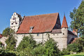 Dinkelsbuhl is old franconian town one of the best preserved medieval urban complexes in germany city mill Stock Photos