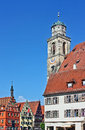Dinkelsbuhl old franconian town one best preserved medieval urban complexes germany saint george minster Stock Photos