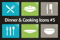 Dinner & Cooking Vector Icon Set #5 Royalty Free Stock Photo