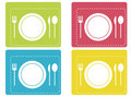 Dinner icons Royalty Free Stock Photography