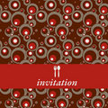 Dinner invitation Stock Photography