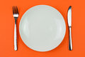 Dinner plate Royalty Free Stock Image