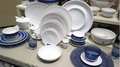 Dinner Plates in Shop Royalty Free Stock Photo