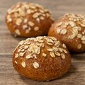 Dinner rolls whole grain wheat selective focus Stock Photo