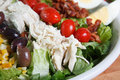 Dinner sized cobb salad Royalty Free Stock Images
