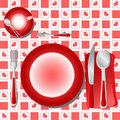 Dinner Table Vector Royalty Free Stock Photography