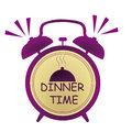Dinner time clock Royalty Free Stock Photo