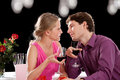 Dinner wine and love an inlove women a men on a drinking Royalty Free Stock Photo
