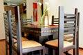 内部装饰业- dinning的空间 免版税库存照片