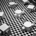 Dinning room black and white Royalty Free Stock Photos