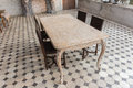 Dinning room table and chairs Royalty Free Stock Photo