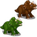 Dinosaur avaceratops in cartoon style. Vector