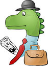 Dinosaur businessman Stock Image