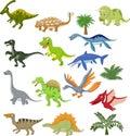 Dinosaur cartoon collection set Royalty Free Stock Photo