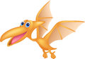 Dinosaur cartoon flying illustration of Stock Photo