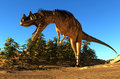 The dinosaur giant on a background blue sky Stock Photography