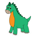 Dinosaur graphic illustration of a little Royalty Free Stock Image