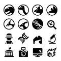 Dinosaur icon set Royalty Free Stock Photo