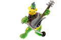 Dinosaur musician toy with a guitar and a microphone Stock Image