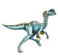 Dinosaur oviraptor it has gradually claws and a long tail Stock Photo