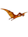 Dinosaur pterodactyl a is flying in the sky Stock Image