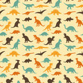 Dinosaur retro pattern