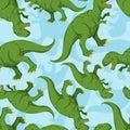 Dinosaur seamless pattern. Dino texture.