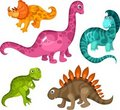 Dinosaur set Stock Images