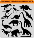 Dinosaur silhouettes Royalty Free Stock Photo
