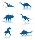 Dinosaur silhouettes Stock Photo