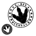 Dinosaur stamp vector illustration of Royalty Free Stock Photo