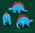 Dinosaur Stegosaurus Cartoon Vector Illustration Royalty Free Stock Photo