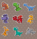 Dinosaur stickers Royalty Free Stock Photo