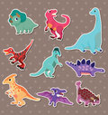 Dinosaur stickers Stock Photography
